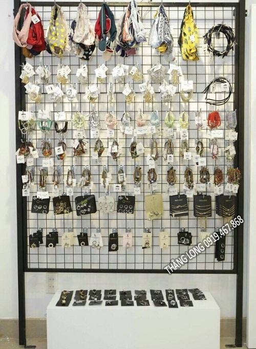 Khung lưới treo đồ trang sức phụ kiện